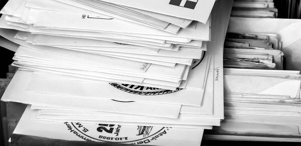 A stack of mail